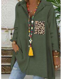 Bluza - cod 5641 - verde unt
