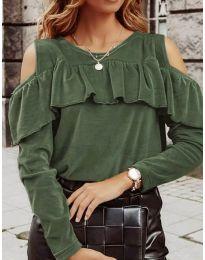Bluza - cod 4111 - verde unt