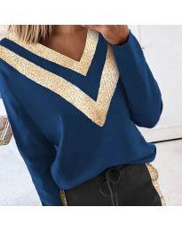 Bluza - cod 2190 - 3 - cer albastru