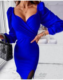 Rochie - cod 2595 albastru inchis