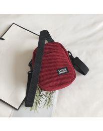 Дамска чанта в  бордо от плат с два джоба - код B73