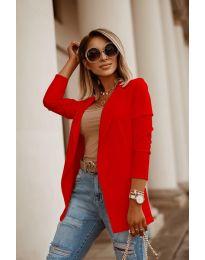 Дамско сако в червено - код 2900