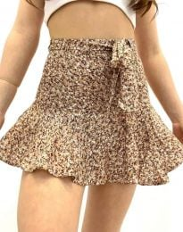 Пола тип панталон в цвят капучино - код 2592