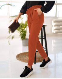 Дамски панталон в медно кафяво - код 4750