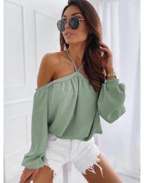 Bluză pentru femei în culoarea mentă - cod 6561
