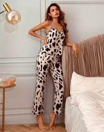 Дамски пижамен сет с атрактивен десен - код 2479 - 2