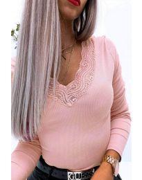 Bluza - cod 3938 roz deschis