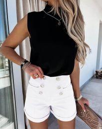 Pantaloni scurți - cod 6815 - alb