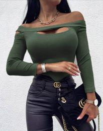 Bluza - cod 11601 - 10 - verde unt