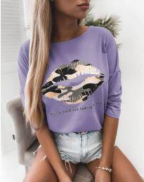 Bluza - cod 5263 - violet deschis