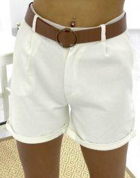 Pantaloni scurți - cod 2236 - 1 - alb
