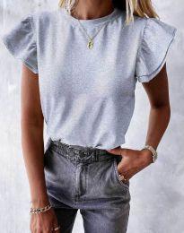 Дамска тениска в светлосиво - код 6215