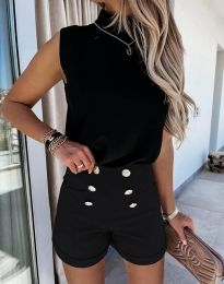 Pantaloni scurți - cod 6815 - negru