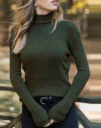 Bluza - cod 4596 - verde unt