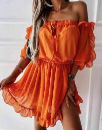Rochie - cod 0223 - portocaliu