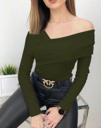 Bluza - cod 5343 - 6 - verde unt