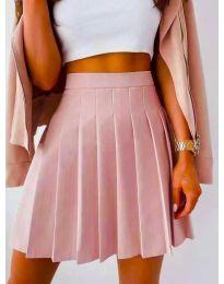 Кокетна плисирана пола в розово - код 8116