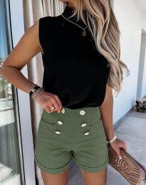 Pantaloni scurți - cod 6815 - verde unt