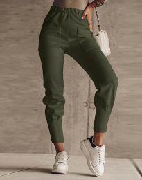 Дамски панталон в масленозелено - код 2252