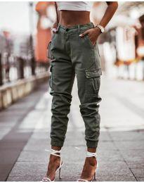 Pantaloni - cod 2192 - 1 - verde unt