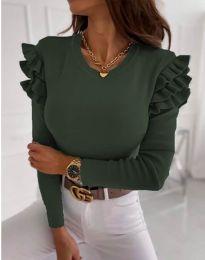 Bluza - cod 1653 - 3 - verde unt