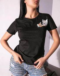 Tricou - cod 2447 - 1 - negru