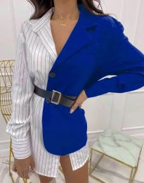 Ефектна дамска риза в синьо - код 4169