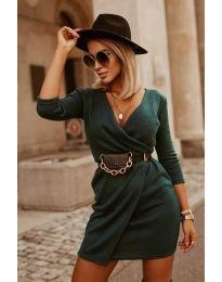 Rochie - cod 9977 - verde unt