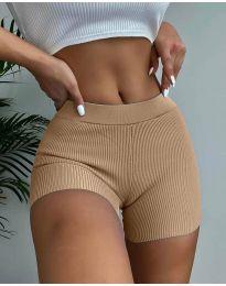Pantaloni scurți - cod 10155 - cappuccino