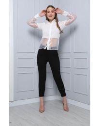 Дамска риза в бяло - код 0638