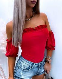 Атрактивна дамска блуза в червено - код 8187