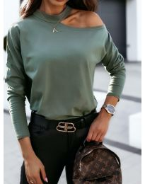 Bluza - cod 41511 - verde unt