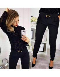 Pantaloni - cod 9907 - negru