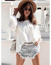 Bluză pentru femei în culoare albă - cod 6561