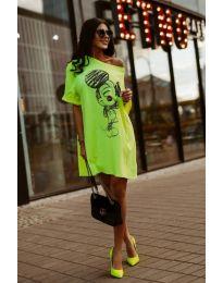 Rochie - cod 3352 - verde neon