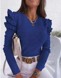 Bluza - cod 1653 - 6 - albastru închis