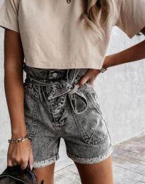 Pantaloni scurți - cod 4525 - 1 - gri