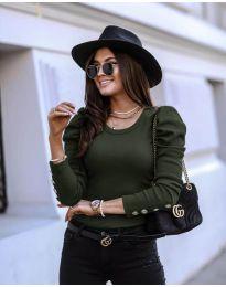 Bluza - cod 4448 - verde unt