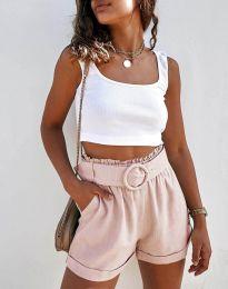 Pantaloni scurți - cod 8164 - roz deschis