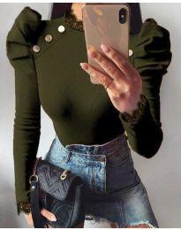 Bluza - cod 9630 - 2 - verde unt