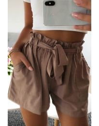 Pantaloni scurți - cod 3637 - maro