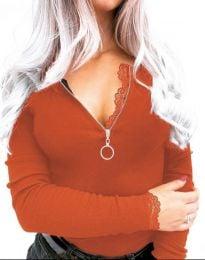 Bluza - cod 4046 - 2 - portocaliu