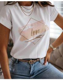 Tricou - cod Тениска - код 3710 - бял - alb