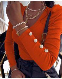 Bluza - cod 2065 - portocaliu