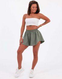 Pantaloni scurți - cod 11979 - verde unt