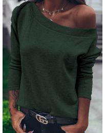 Bluza - cod 4417 - verde unt