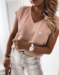 Атрактивна дамска блуза в розово - код 6306