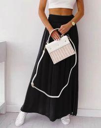 Дълга дамска пола в черно - код 2667