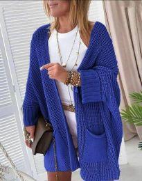 Cardigan - cod 7593 - albastru
