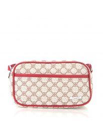Дамска чанта в червено с фигурални мотиви - код JY-6480